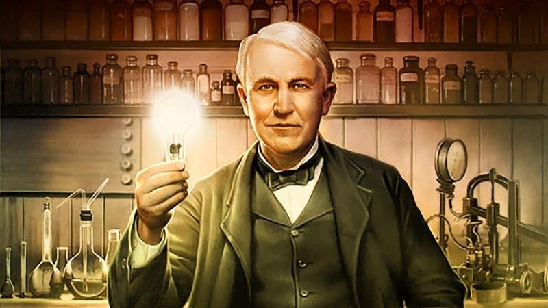 Amerikaanse Uitvinder Thomas Edison Beroemde Wetenschapper
