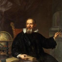 Italiaanse natuurkundige Galileo beeld