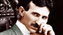 Gekke wetenschapper Nikola Tesla beeld